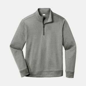 Unisex PosiCharge Heathered Fleece 1/4-Zip Thumbnail
