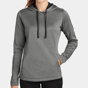 Sport-Tek Ladies PosiCharge Heathered Fleece Hoodie Thumbnail
