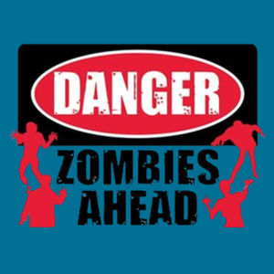 Zombies Ahead - Youth Fan Favorite T Design