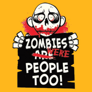 Zombies Were People - Ladies V-Neck T Design