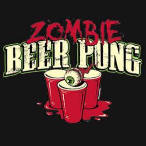 Zombie Beer Pong - Adult Premium Blend T Design