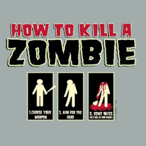 How to Kill a Zombie - Adult Fan Favorite Crew Sweatshirt Design