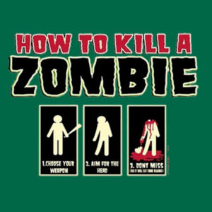 How to Kill a Zombie - Adult Fan Favorite Hooded Sweatshirt Design