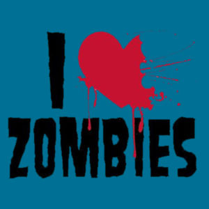 I Love Zombies - Adult Fan Favorite T Design