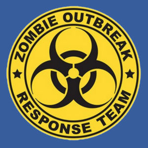 Zombie Response Team - Ladies V-Neck T Design