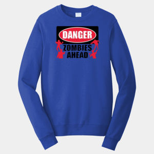 Zombies Ahead - Adult Fan Favorite Crew Sweatshirt Thumbnail