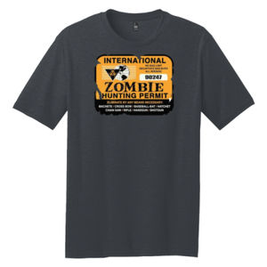 Zombie Hunting Permit - Adult Premium Blend T Thumbnail