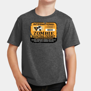 Zombie Hunting Permit - Youth Fan Favorite T Thumbnail