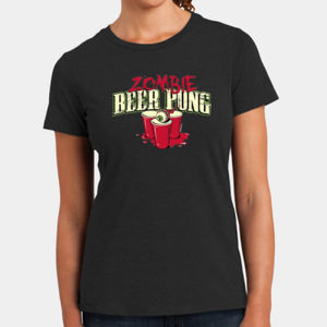 Zombie Beer Pong - Ladies Perfect Blend T Thumbnail