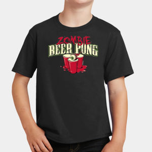 Zombie Beer Pong - Youth Fan Favorite T Thumbnail