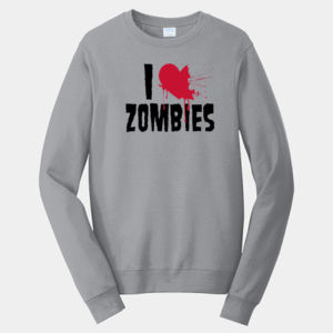 I Love Zombies - Adult Fan Favorite Crew Sweatshirt Thumbnail