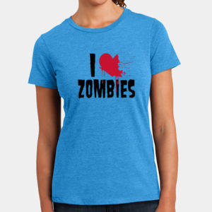 I Love Zombies - Ladies Perfect Blend T Thumbnail