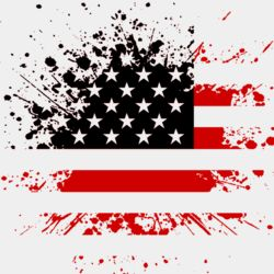 Distressed Flag  Red   Black  Thumbnail
