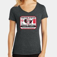 Ladies Tri-Blend V-Neck T Thumbnail