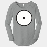 Ladies Long Sleeve Tri Blend T Thumbnail