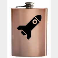 8oz Copper Coated Hip Flask Thumbnail